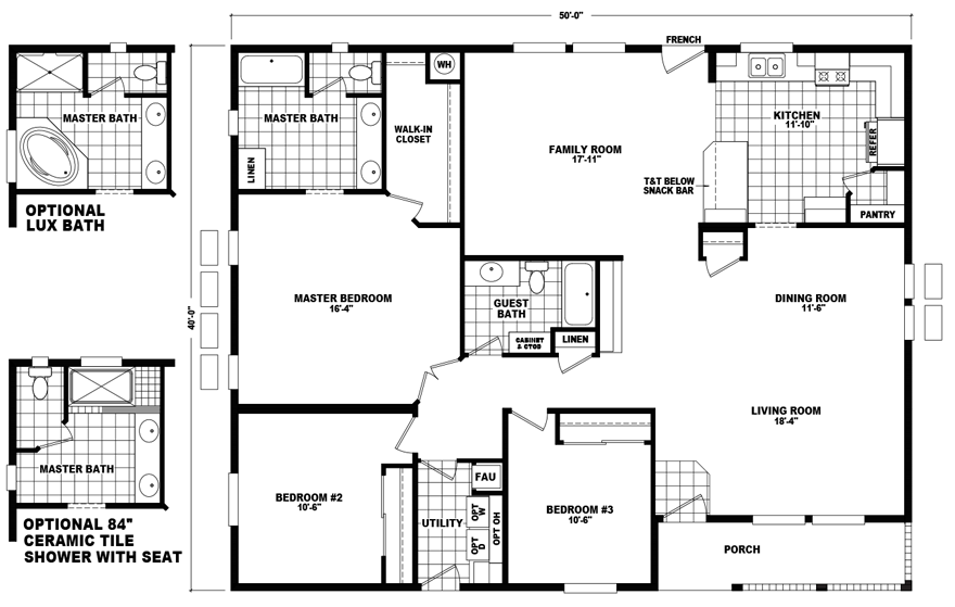 Double Wide Floor Plans - The Home Outlet AZ