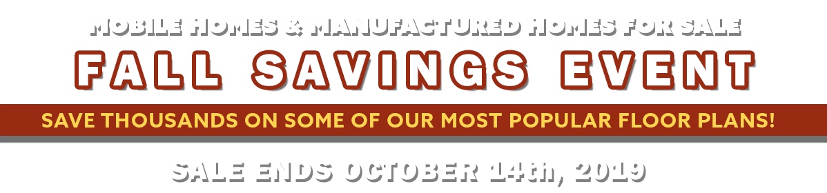 Sale Ends Monday, October 14th, 2019